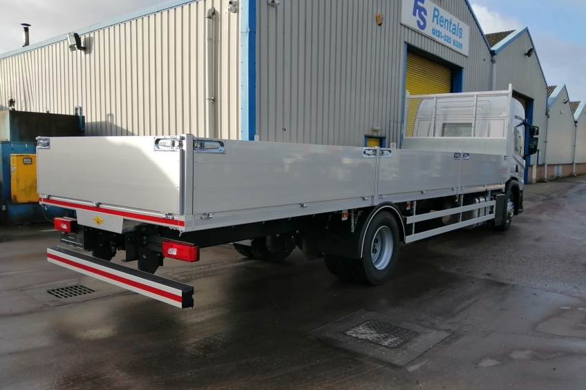 aluminium dropside body, scania, paint, pesca locks