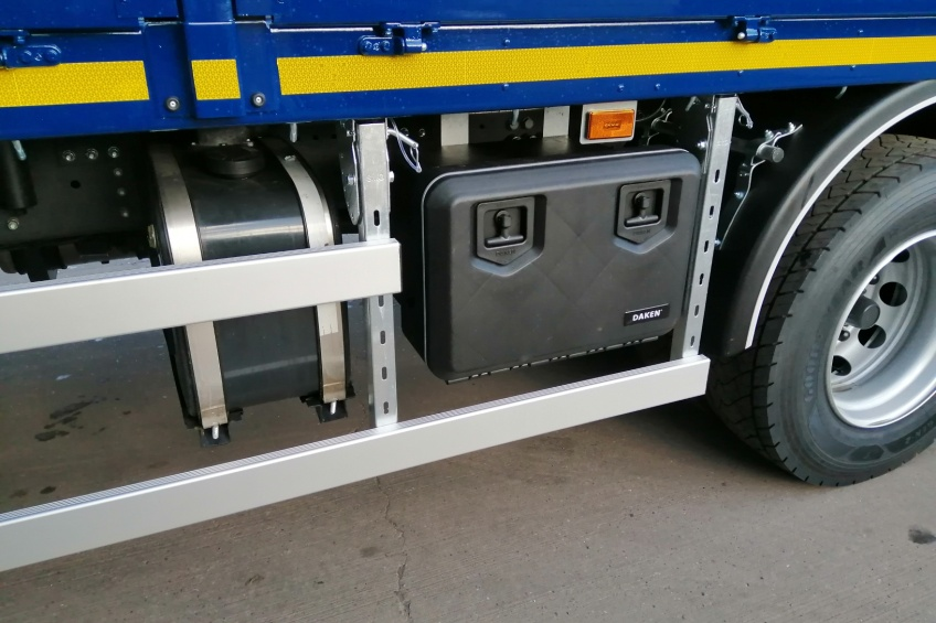 our work, thermoplastic tool boxes, tool boxes, builders merchants , scania