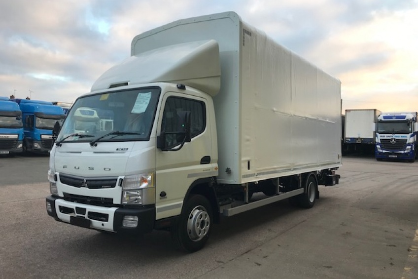 slidaflex body, sliderflex body, steel carrier, platform, coil well, Fuso, Canter, Cantilever tail lift