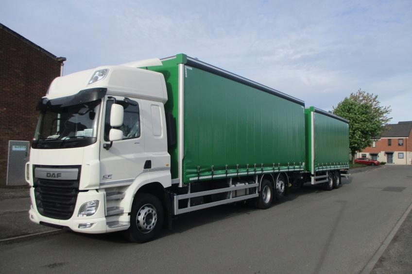 draw bar, drawbar, rig, curtain side, daf